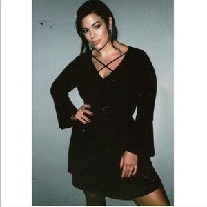 Ashley Graham Beyond Velvet Crisscross Dress